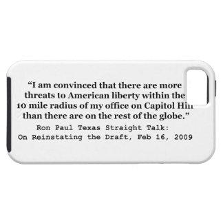 More Threats on Capitol Hill Quote by Ron Paul iPhone SE/5/5s Case