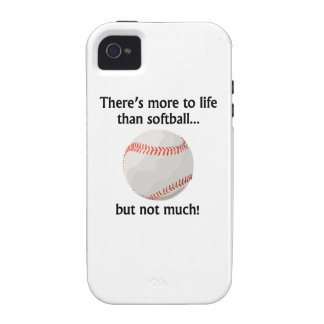 More To Life Than Softball iPhone 4/4S Case