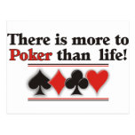 More to Poker Postcard