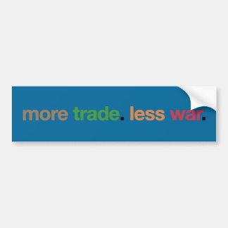 More Trade. Less War. Bumper Sticker Car Bumper Sticker