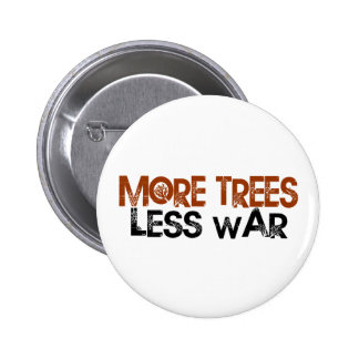 More Trees Less War Button