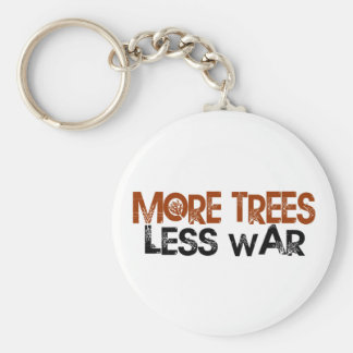 More Trees Less War Basic Round Button Keychain