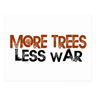 More Trees Less War Postcard