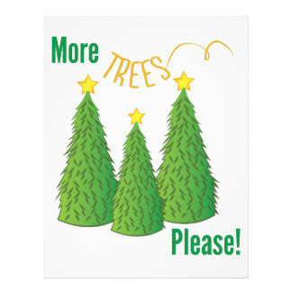 More Trees Please Letterhead
