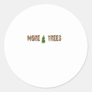 More Trees Round Sticker