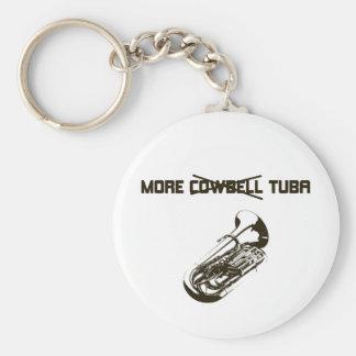 More Tuba Basic Round Button Keychain