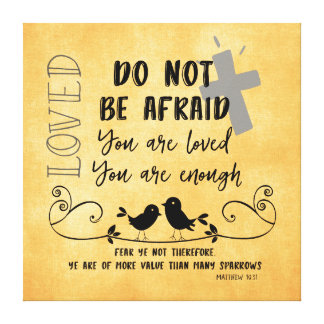 More Value than Sparrows Bible Verse & Quote Canvas Print