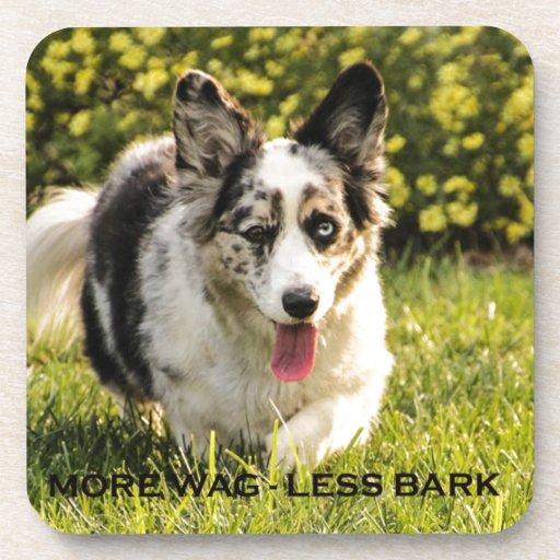 More Wag - Less Bark Coaster