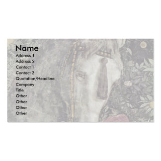 More Waiting Grooms: Horse By Mantegna Andrea Double-Sided Standard Business Cards (Pack Of 100)
