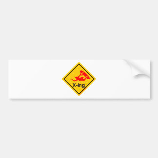 more wakeboarder x-ing and crossing bumper sticker