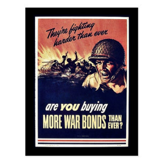 More War Bonds Postcard