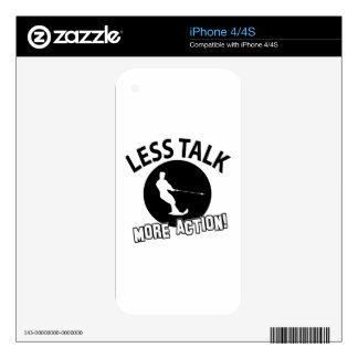 More Water Skiing action less talk iPhone 4 Decal