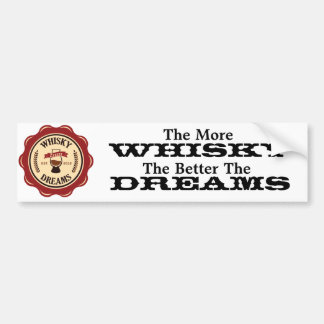 More Whisky bumper sticker