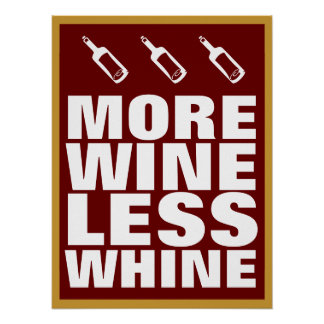 More Wine Poster