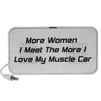 More Women I Men The More I Love My Muscle Car Portable Speaker