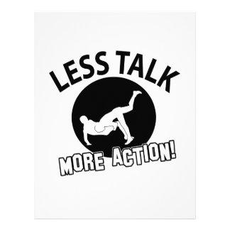 More Wrestling action less talk Letterhead