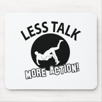 More Wrestling action less talk Mouse Pad