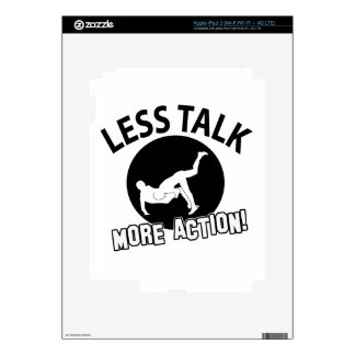 More Wrestling action less talk Decals For iPad 3