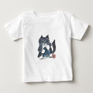More Yarn Play by Gray Tiger Kitten, Sumi-e Baby T-Shirt