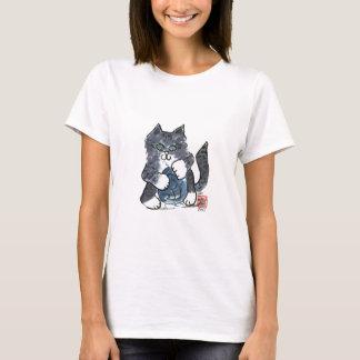 More Yarn Play by Gray Tiger Kitten, Sumi-e T-Shirt
