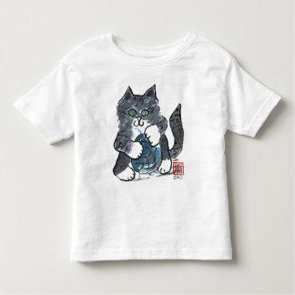 More Yarn Play by Gray Tiger Kitten, Sumi-e Toddler T-shirt