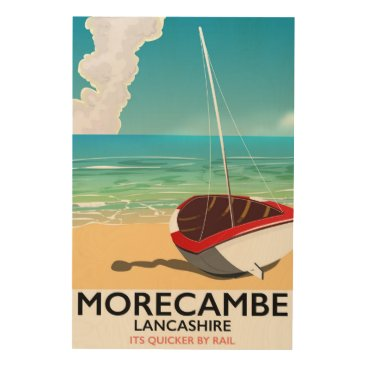 Beach Themed Morecambe, Lancashire Seaside travel poster