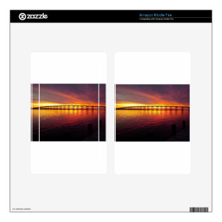 Morehead City Bridge at Sunset Decal For Kindle Fire