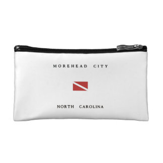 Morehead City North Carolina Scuba Dive Flag Cosmetic Bag