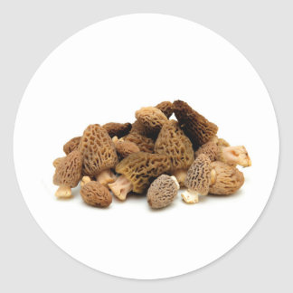 Morel Mushroom Classic Round Sticker