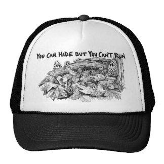 Morel Mushrooms B&W Trucker Hat