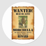 Morel - Wanted Poster Classic Round Sticker