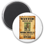 Morel - Wanted Poster Refrigerator Magnet