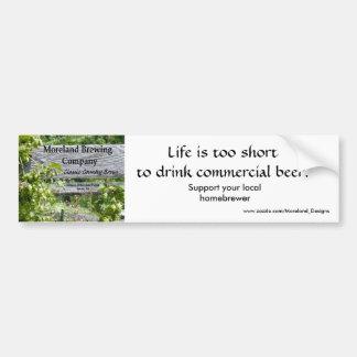 Moreland Brewing Company Logo, Support your loc... Car Bumper Sticker