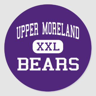 Moreland superior - osos - alto - arboleda del pegatina redonda