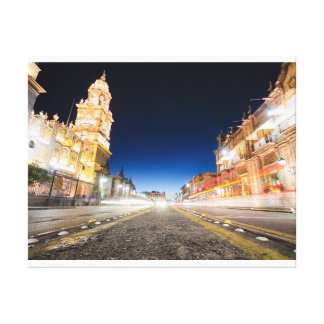 Morelia Michoacan Nights Canvas Print