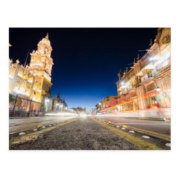 Morelia Michoacan Nights Postcard