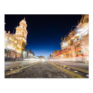 Morelia Michoacan Nights Postcard