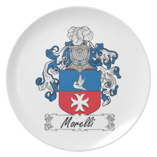 Morelli Family Crest Party Plate