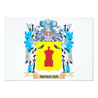 "Morena Coat of Arms - Family Crest 5"" X 7"" Invitation Card"
