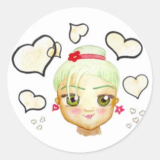Morena Cutie In-Love Classic Round Sticker
