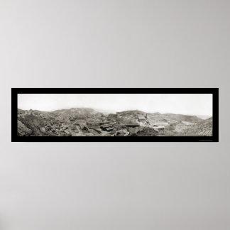 Morenci, foto 1909 de la mina de AZ Póster