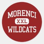 Morenci - gatos monteses - High School secundaria Pegatina Redonda