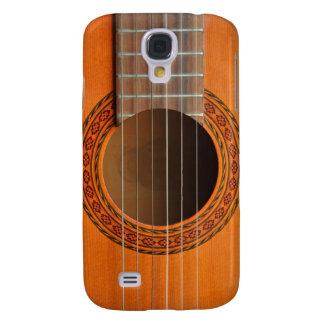 Moreno anaranjado de la guitarra clásica funda para galaxy s4