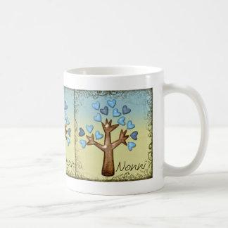 moreno azul del árbol del corazón del nonni taza de café
