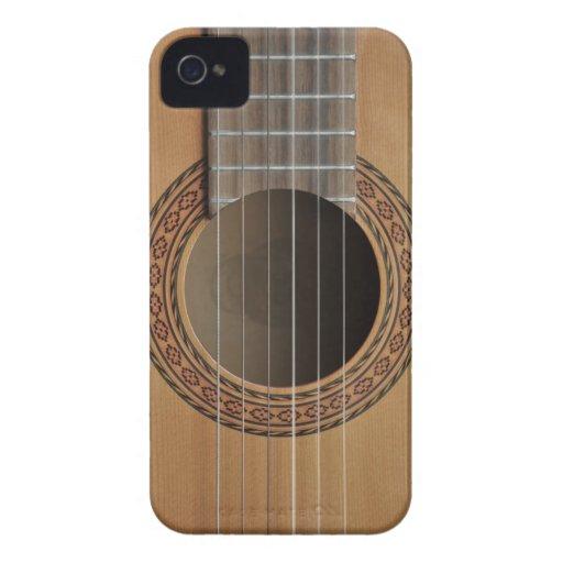 Moreno beige de la guitarra clásica iPhone 4 cárcasas