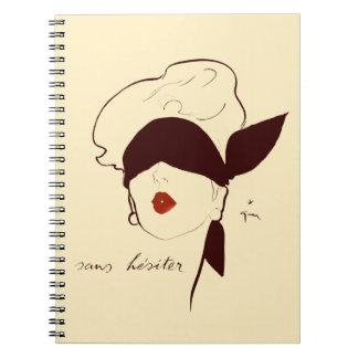 Moreno con los ojos vendados francés de Rene Gruau Cuaderno