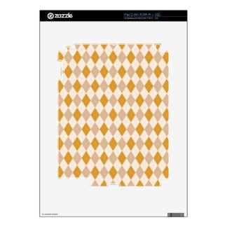 Moreno de Argyle, oro quemado, crema Calcomanías Para iPad 2