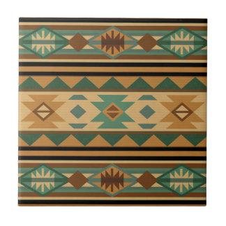 Moreno de Brown del verde del diseño del sudoeste Azulejo Cuadrado Pequeño