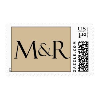 Moreno de encargo y monograma negro timbres postales
