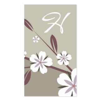 moreno de la belleza el | del flor del platino tarjetas de visita